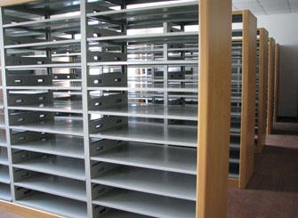 钢木结合报纸存储架